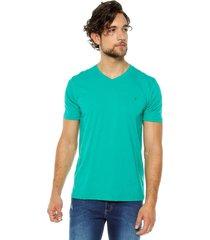 camiseta básica hombre verde s5119