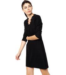 vestido negro asterisco alamo