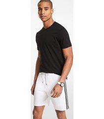 mk shorts in misto cotone con fettuccia con logo - bianco (bianco) - michael kors
