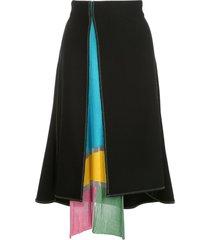 i-am-chen open front skirt - black
