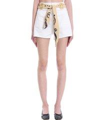 lanvin shorts in white denim