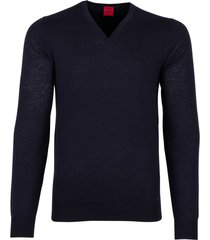 olymp level five pullover donkerblauw v-hals