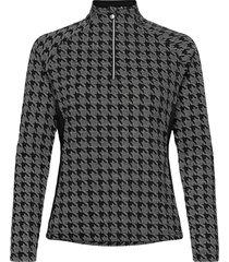 beata half neck sweat-shirt tröja svart daily sports