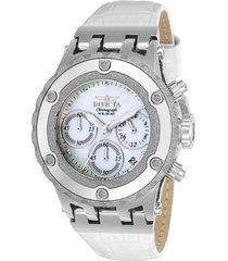 reloj invicta blanco, acero modelo 232kh para dama, colección subaqua