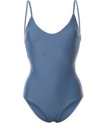 matteau scoop neck swimsuit - blue