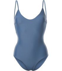 matteau scoop neck swimsuit - blue