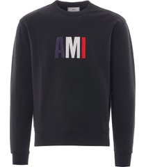 ami embroidery sweatshirt | black | e20hj003.730 001