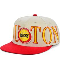 mitchell & ness houston rockets hardwood classic winners circle snapback cap