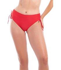 bikini calzón cadera ajustable rojo samia