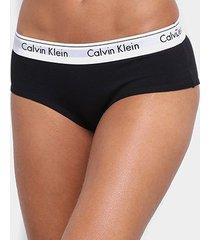 calcinha calvin klein short modern cotton - feminino