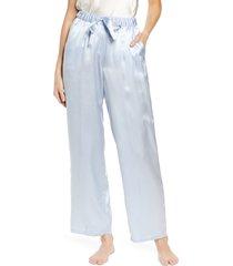women's nordstrom silk pajama pants, size x-small - blue