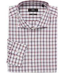 jason slim-fit plaid dress shirt