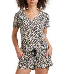 splendid camo print shorts pajama set