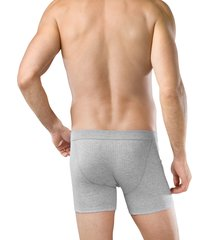 schiesser boxershort authentic 2pak met gulp grijs