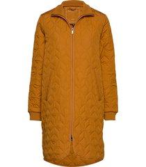coat doorgestikte jas oranje ilse jacobsen