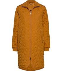 padded quilt coat doorgestikte jas oranje ilse jacobsen