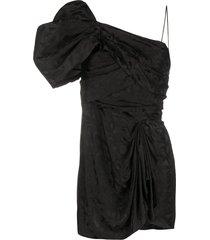 isabel marant one shoulder triangle dress - black
