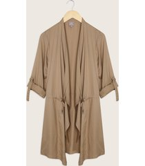 chaqueta abierta con puntas unicolor-14