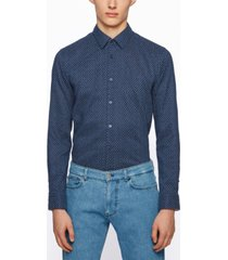 boss men's ronni patterned slim-fit shirt