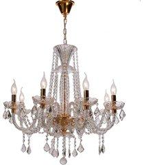 lustre de cristal 8 lâmpadas cork