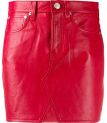 rag & bone slim-fit mini skirt - red