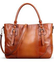 donna vera pelle pennello vintage tote borsa borsa a tracolla borsa
