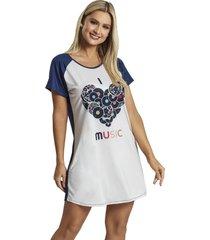 camisao recco supermicro viscose azul