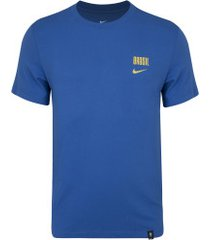 camiseta do brasil nike voice - masculina - azul