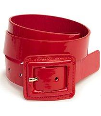 cinturón charol rojo humana