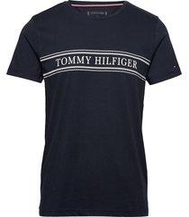 rope stripe tee t-shirts short-sleeved blå tommy hilfiger