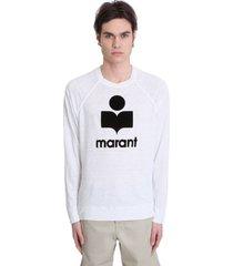 isabel marant kieffer t-shirt in white linen