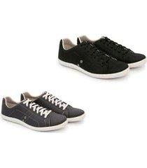 kit 2 pares de sapatênis trivalle shoes masculino - masculino