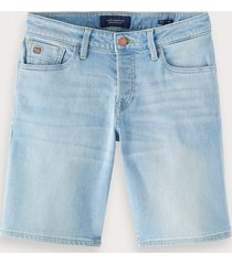scotch & soda ralston short - paint in blauw | regular slim fit