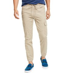 american rag men's elastic cargo pants, created for macy's