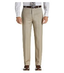 executive collection tailored fit flat front dress pants by jos. a. bank