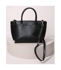 bolsa feminina estruturada grande preta