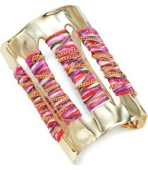alexis bittar women's 10k goldplated cuff bracelet