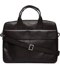 basis laptop bag - cognac computertas tas zwart royal republiq