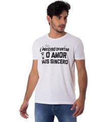 camiseta o amor mais sincero gola redonda thiago brado 1107000005 branco - branco - pp - masculino