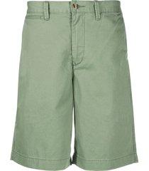 polo ralph lauren embroidered logo bermuda shorts - green