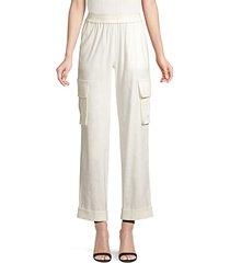 alex rolled cuff linen-blend cargo pants