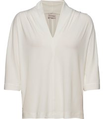 bijana blouses short-sleeved creme by malene birger