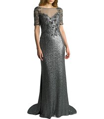 illusion sequin gown