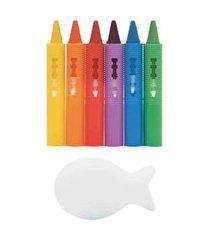 brinquedo educativo de desenho risque e apague com esponja buba