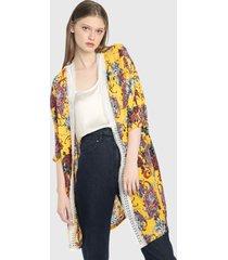 kimono amarillo-multicolor paris district
