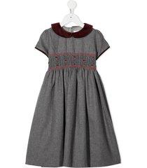 mariella ferrari shirred party dress - grey