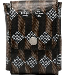 au départ abstract pattern logo print travel bag - black