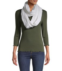 calvin klein women's chain infinity scarf - cognac