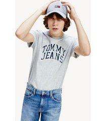 tommy hilfiger men's varsity logo t-shirt light grey heather - xxl