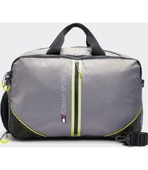tommy hilfiger women's icon duffle travel bag grey mix -